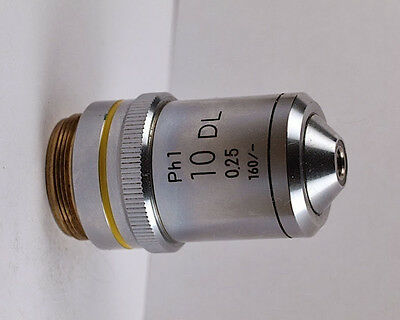 Nikon 10x /.25 DL Ph1 160mm Phase Contrast Microscope Objective