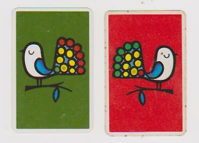 Fancy Feathered Friends X 2 Only Vintage Playing/swapcards ..quirky