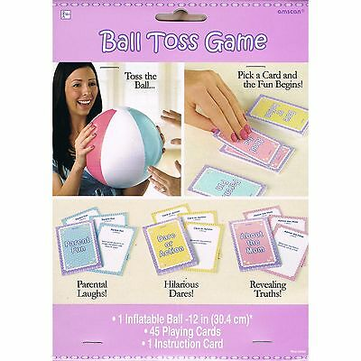 Baby Shower Party Supplies Ball Toss Truth Or Dare Fun Card Game