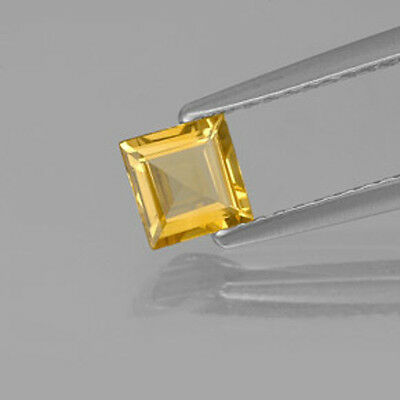 Masterpiece Collection: Square Genuine (Natural) Golden Citrine (3x3mm-5x5mm)