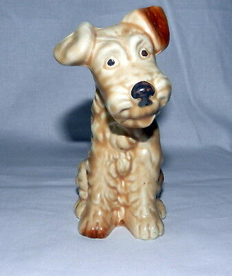 Vintage Beautiful Sylvac England Terrier Sitting Puppy Dog Figurine