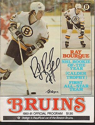 Ray Bourque Signed Bruins 1980-81 Official Program Magazine April 2nd 1981