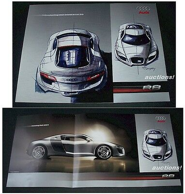 2008 08' AUDI R8 Introductory Original Sales Brochure Sheet FREE SHIP USA