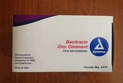 DYNAREX Bacitracin Zinc Ointment 0.9 gram 144/bx #1171 First Aid Antibiotic