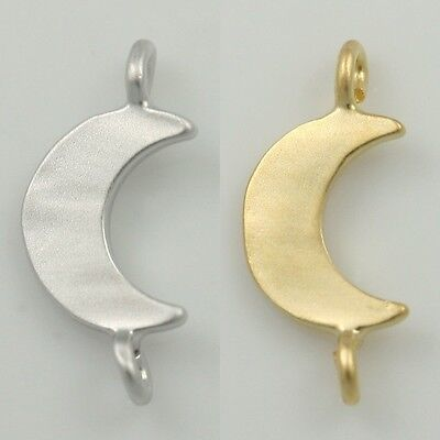 Tiny New moon Pendants Charms - Necklace Earrings Bracelets Jewelry supplies #40
