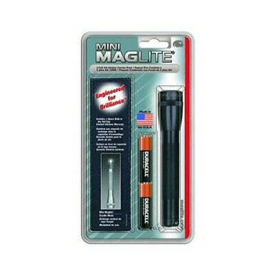 Maglite Mini M2A01H 2 Cell AA Black Mag Incandescent Flashlight Holster