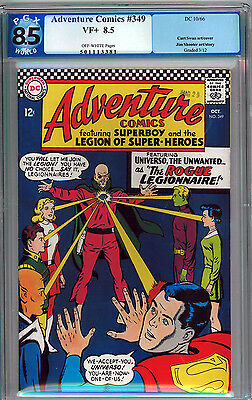 Adventure Comics #349 Pgx 8.5 Off-White Pages Silver Age Not Cgc Superboy