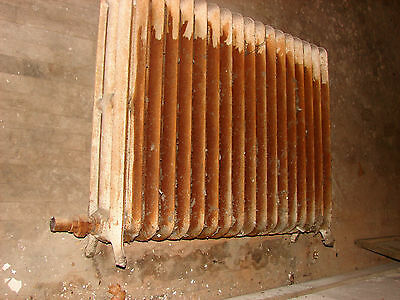 Antique Hot Water Steam Cast Iron Radiator 18 Fin