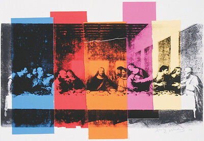 ANDY WARHOL - Detail of The Last Supper, 1986 ART PRINT 42x30 Offset Lithograph