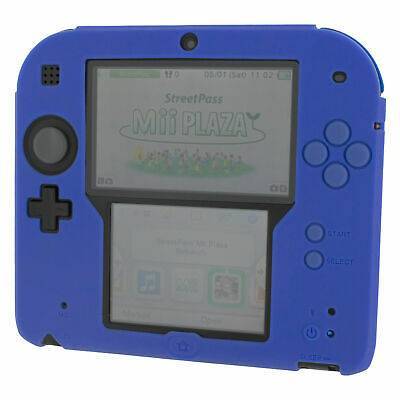 ZedLabz soft silicone gel protective cover bumper case for Nintendo 2DS - Blue