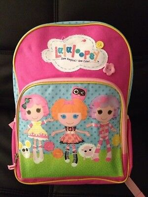 "New 16""  Lalaloopsy & Friends Sew Magical Pink Backpack Book Bag Tote Full Size"
