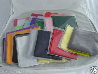 "16 Different Polyester Top Pocket Hankies-9"" x 9""=23cm-Squares>Job Lot-Wholesale"