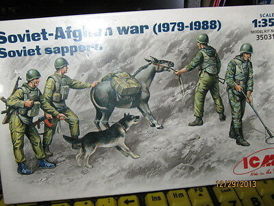 ICM Soviet-Afghan War-Soviet Sappers-1979-1988-1/35 Scale-FREE SHIPPING