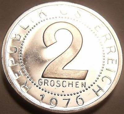 Proof Austria 1976 2 Groschen~Only 44,000 Minted~Imperial Eagle~Free Shipping