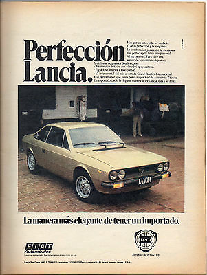 Original Vintage Fiat Lancia  Clipping Advertising  Argentina 1980