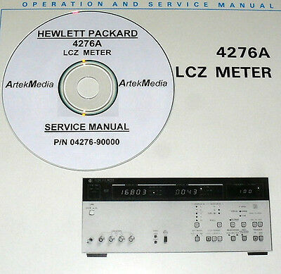 HP 4276A LCZ Meter Operating & Service Manual