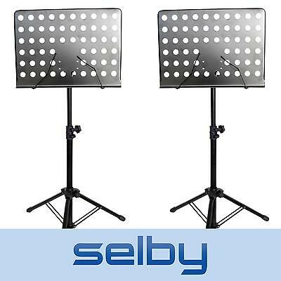 2 x Selby Sheet Music Stand Heavy Duty & Adjustable Black