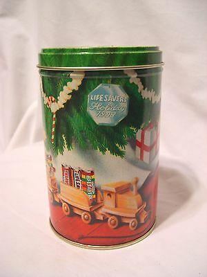 1993 Lifesavers Candy Christmas Tin canister advertising