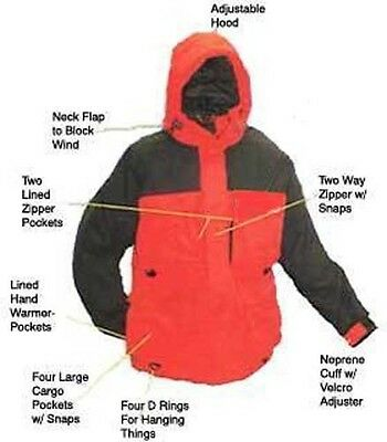 Arctic Armor Floating Extreme Weather Jacket Red 5x