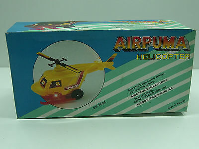 Cosmic Armed Helicopter Battery Operated Vintage Toy Taiwan Mib Wey Yeei Toys Electronic, Battery & Wind-up