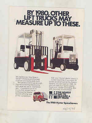 1975 Hyster Forklift Truck Small Brochure wt8636