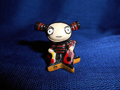 NINJA GARU Star Base GUITAR PUCCA PUNK LOVE Mini Figurine French Porcelain FEVES