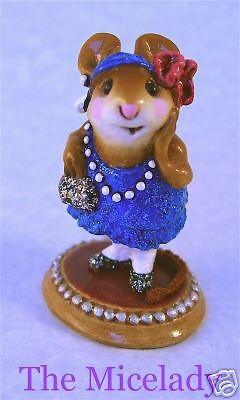 ZELDA by Wee Forest Folk, WFF# M-171, BLUE GLITTER, Retired 1999