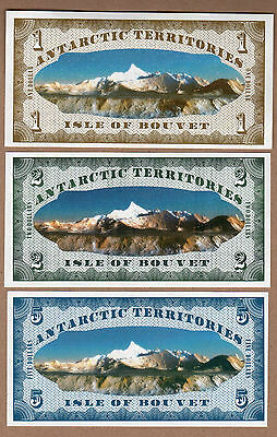 Isle Of Bouvet/norway/antarctic  Lot Of 6 Unc Seria A Rare Modern Issue!