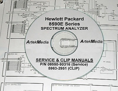 HP Hewlett Packard 8590E Service Manual & CLIP (Schematics) 2 Volumes