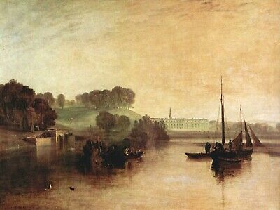 Keelmen heaving by Joseph Mallord Turner Giclee Fine Art Print Repro on Canvas