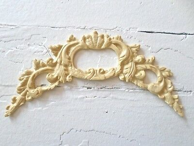 Victorian Carved Crest Wood & Resin Furniture Appliques-Stainable-Paintable-New