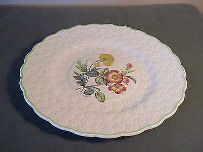 Vintage Copeland Spode Embossed Daisy Luncheon Plate, Artist Signed - Wild Rose