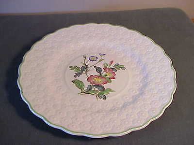 Vintage Copeland Spode Embossed Daisy Luncheon Plate, Artist Signed -Convolvulus