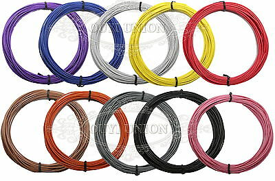 Flaxible Stranded Equipment Wire 18~30AWG Cable Hook UP DIY Electrical 5~30Meter