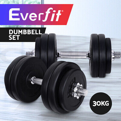 Everfit Dumbbell Set Weight Dumbbells Plates Home Gym Fitness Exercise 30KG