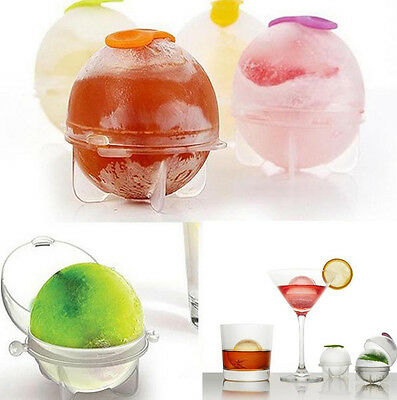4 x Infusion Ice Cube Ball Maker Mold Cocktail Desert Sphere Party Fruit Tray
