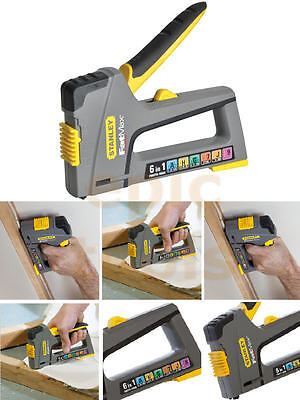 STANLEY FatMax TR75 6in1 Hand Staple/Cable Tacker Brad Nail Gun Stapler 070868