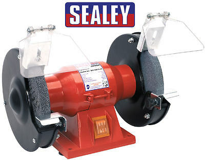 "Sealey 150mm 6"" Workshop Bench Grinder Twin Grinding Stones 150w 240v BG150CX"