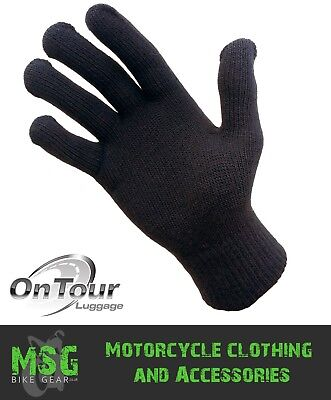 OnTour Thermolite / Cotton Lightweight Inner Motorcycle Gloves - Choice of sizes