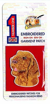 Italian Spinone - Embroidered Garment Patch - Iron On - Sew On