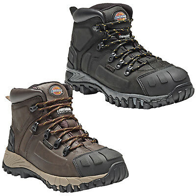 Dickies Waterproof Medway Safety Boots Size Uk 6 - 12 Mens Black Brown Fd23310