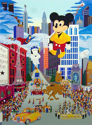 """Melanie Taylor Kent """"Macy's Thanksgiving Day Parade"""" Hand Signed Micky Mouse"""