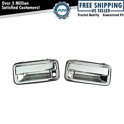 Chrome Outer Exterior Outside Door Handle Pair Set for 95-01 Chevy GMC C/K Truck