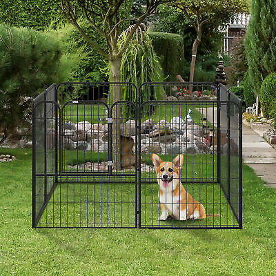 8 Panel Dog Pet Playpen Heavy Duty Metal Exercise Enclosure Fence 40""