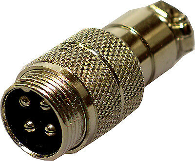 CB Radio Mic Microphone 4 Pin Flying Socket Line Connector