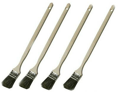 4 X Extra Long Reach Handled Paint Brushes 440mm Reach 40mm Width Painting13a