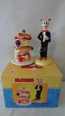 Dagwood With Sandwich 2006 Vandor Salt and Pepper Shakers MIB #G8