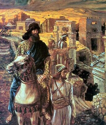 Nehemiah sees the rubble in Jerusalem by James Tissot Giclee Repro on Canvas