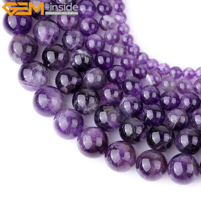 "Natural Gemstone Amethyst Quartz Stone Beads For Jewelry Making 15"" Multicolor"