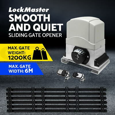 Sliding Electric Gate Opener 1200KG Automatic Motor Remote Kit Heavy Duty Track